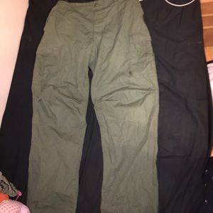 Rothco green military cargo pants