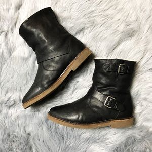 Madewell Black Leather Boots🖤🍂