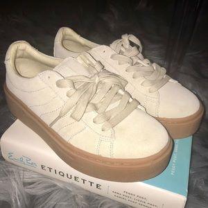 Zara Light Gray/Tan Suede Sneakers w/ Leather Sole