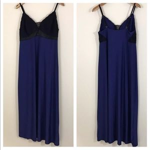 Soma night gown blue and lace medium