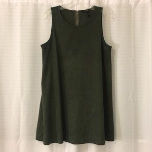 Green Suede Dress