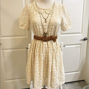 Anthropologie free people vintage lace dress small
