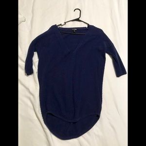 Express Vneck Tunic Sweater Indigo