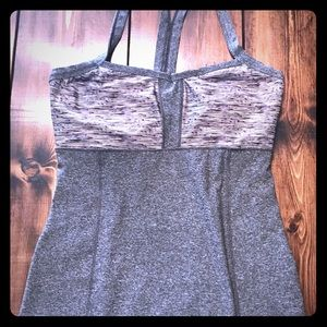 Athletic tank with built in bra. Side Medium