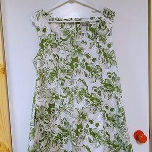 Cotton Floral Dress Sz 18