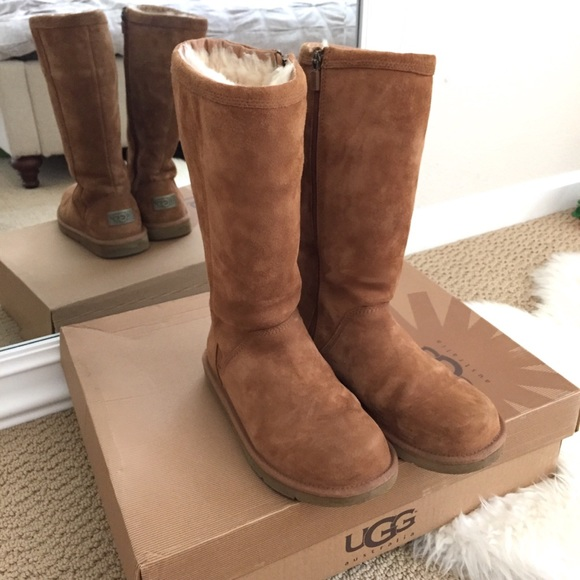 fd3e6c66033 1 DAY SALE! 🖤 UGG Kenly Tall Chestnut Boots Sz 6