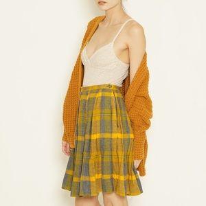 60s plaid wool skirt