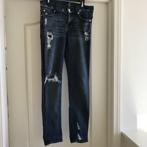 7 For All Mankind The Slim Cigarette Skinny Jeans