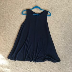 Forever 21 Ribbed Navy Blue Short Dress / Tunic