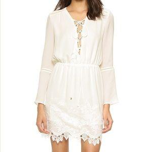 Wayf white lace up dress 👗