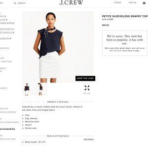 Like 🆕 J.Crew Petite sleeveless drapey top