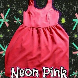Plus Size Neon Pink Dress
