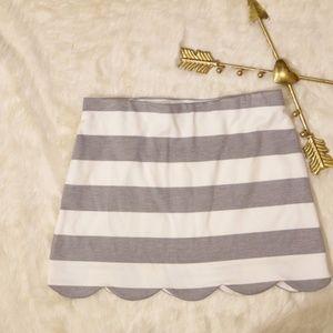 Topshop Scallop Hem Mini Skirt