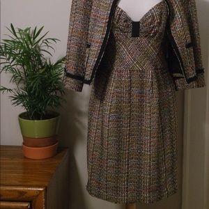 Trina Turk Multicolor Tweed Dress & Jacket Set