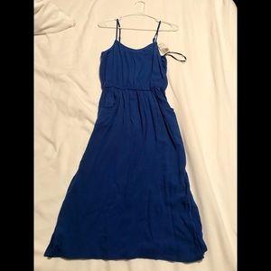 F21 Knee Length Royal Blue Dress