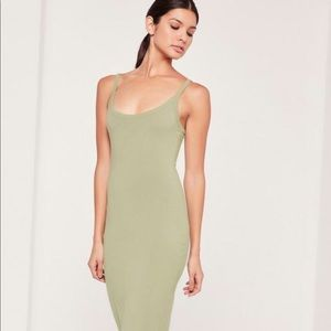 MISSGUIDED Strappy Long Midi Dress