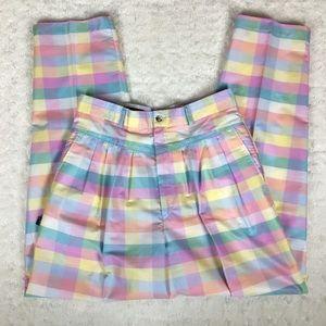 Pants - 🌸 vintage 🌸 Palmetto's plaid pleated pants