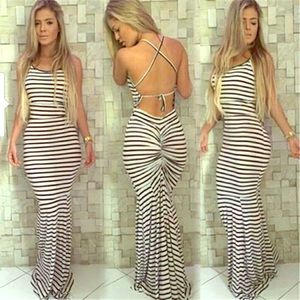Dresses & Skirts - Sexy fitting striped gown