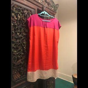 Tri-colored tunic dress