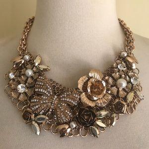 🦋Aldo Statement Necklace Bib Floral Butterfly🦋