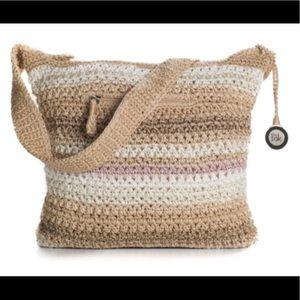 The Sak Classic Striped Crochet Shoulder Bag