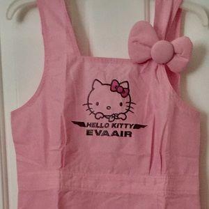 Hello Kitty Apron Womens Medium Pink NWT!!