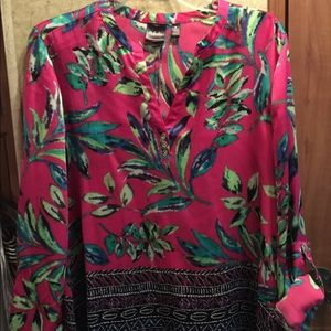 Silk printed blouse multi colored