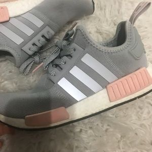 NMD R1 W pink and grey