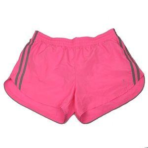 DANSKIN Hot Pink Neon Lined Running Shorts Sz Med