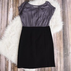 Loft black and gray dress. Gray dress. Black loft