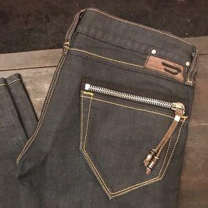 Diesel dark blue denim clush jeans size W26 L34