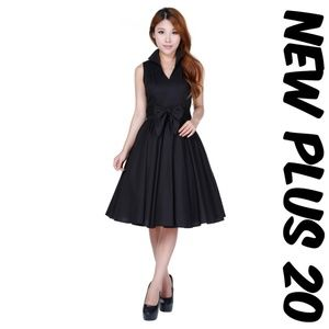 Pin Up Vintage Girl Clothing Dress Plus Size 20