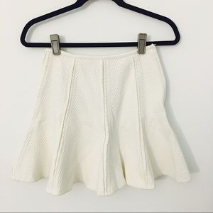 Cute textured flare skirt