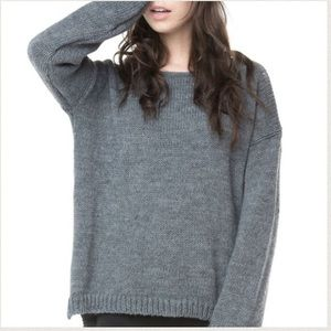 Brandy Melville Gray Sage Knit Sweater
