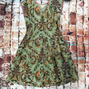 Sundance Silk Floral Sleeveless Dress