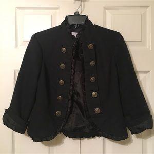 Dressy Black Ruffled Cardigan / Shell