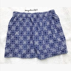 J.Crew Factory Printed Cotton Skirt