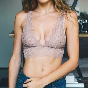 Other - Dusty Rose Lace Bralette