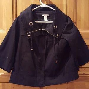 Worthington black jacket wth cute collar size S