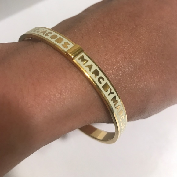 Bracelet for Women, Yellow Gold, Brass, 2017, One Size Marc Jacobs
