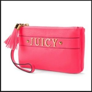 Juicy Couture HOT PINK Wristlet Clutch Bag