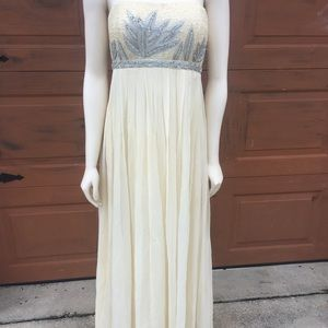Camille La Vie Beaded Strapless Prom Dress