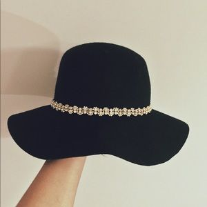 Jewel Band Floppy Hat