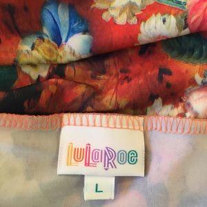 LuLaRoe Skirts - NWT Lularoe Floral Azure Skirt Large