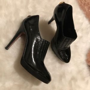 BCBG Patent Leather Booties