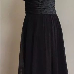 Maggy London Black Silk Chiffon Dress