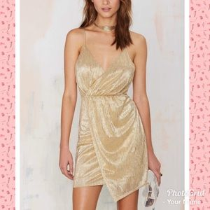 Gold lamè dress