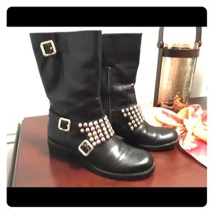 BCBGeneration Halen Leather Studded Boots