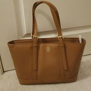 NWT Tory Burch Landon Pebbled Leather Tote