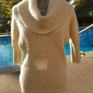 Express Cream Cowl Neck Sweater
